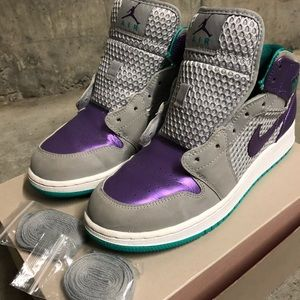 Kids Air Jordan 1 Phat GS Wolf Grey/Ultra Violet